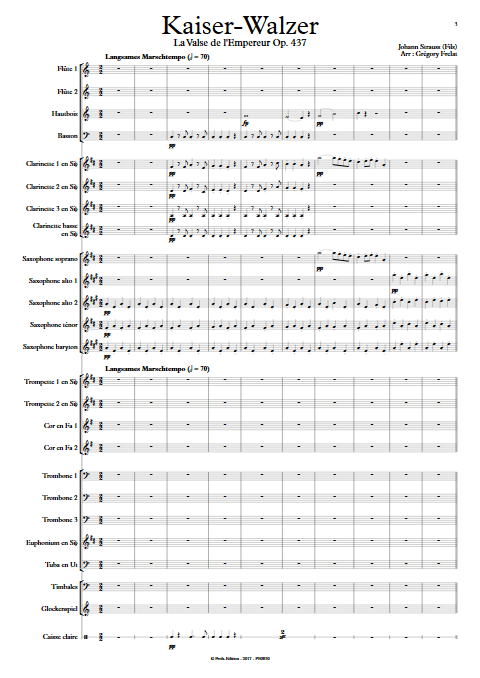 La valse de l'Empereur - Orchestre d'Harmonie - FRELAT G. - Partition