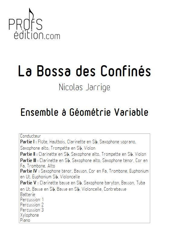 La Bossa des Confinés - Ensemble Variable - JARRIGE N. - page de garde