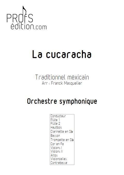 La Cucaracha - Orchestre Symphonique - RODRIGUEZ G. M. - page de garde