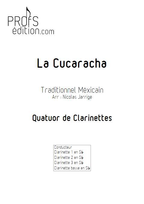La Cucaracha - Quatuor de clarinettes - TRADITIONNEL MEXICAIN - page de garde