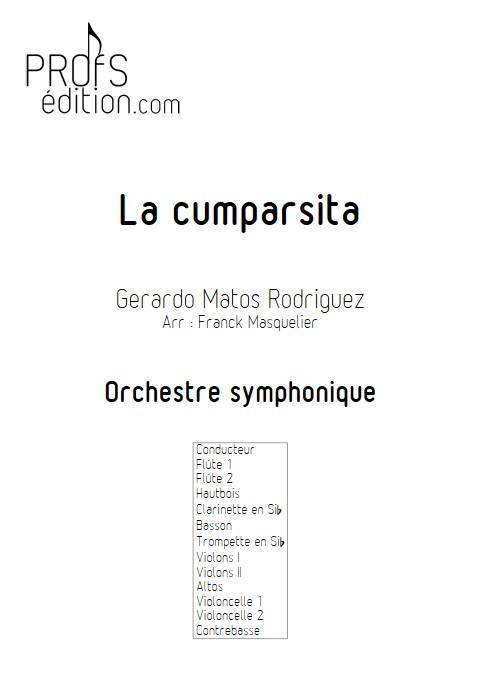 La Cumparsita - Orchestre Symphonique - RODRIGUEZ G. M. - page de garde