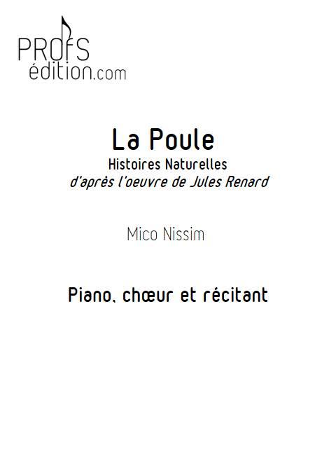 La Poule - Chœur et Piano - NISSIM M. - page de garde
