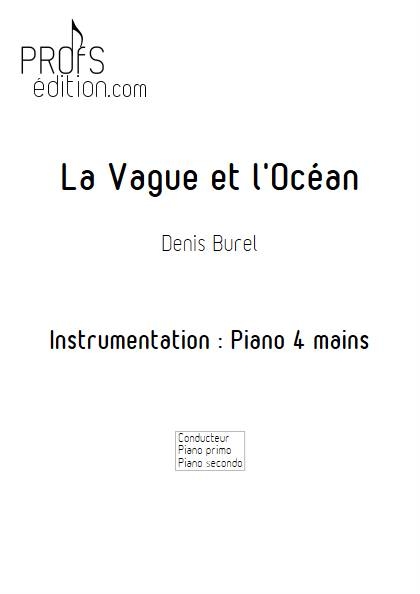 La Vague et l'Ocean - Piano 4 mains - BUREL D. - page de garde