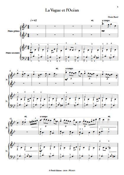 La Vague et l'Ocean - Piano 4 mains - BUREL D. - Partition