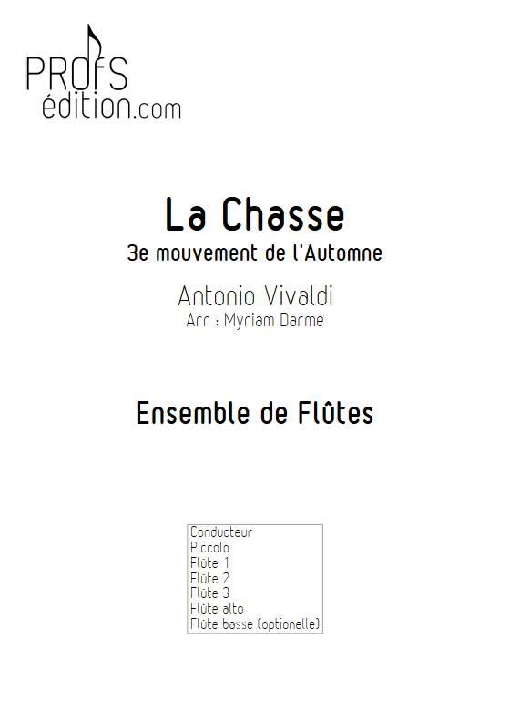 La Chasse - Ensemble de Flûtes - VIVALDI A. - page de garde