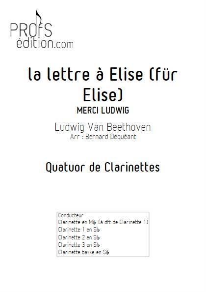 La lettre à Elise - Quatuor de Clarinettes - BEETHOVEN L. V. - page de garde