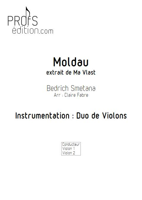 La moldeau - Duo de Violons - SMETANA B. - page de garde