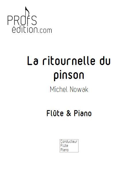 La ritournelle du pinson - Flûte & Piano - NOWAK M. - page de garde