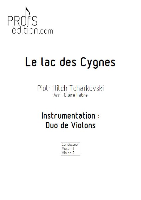 Lac des Cygnes - Duo Violons - TCHAIKOVSKI P. I. - page de garde