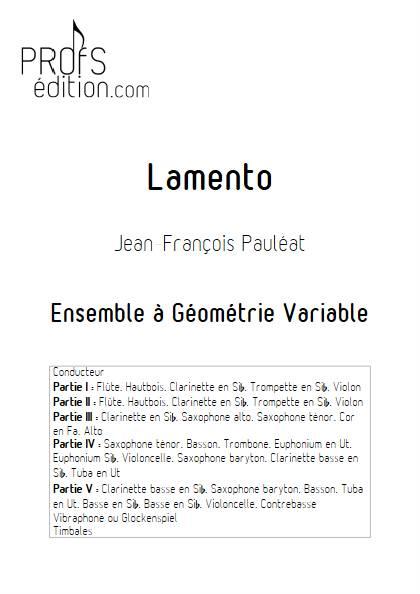 Lamento - Ensemble Variable - PAULEAT J. F. - page de garde