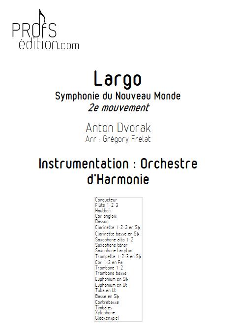 Largo (Symphonie du nouveau monde) - Orchestre d'Harmonie - FRELAT G. - page de garde