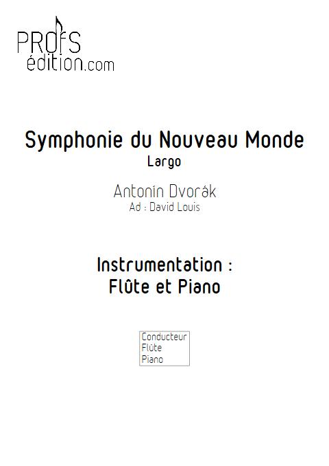 Symphonie du Nouveau Monde (Largo) - Flûte et Piano - DVORAK A. - page de garde