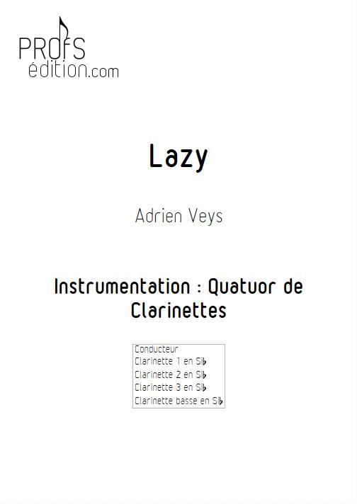 Lazy - Quatuor de Clarinettes - VEYS A. - page de garde