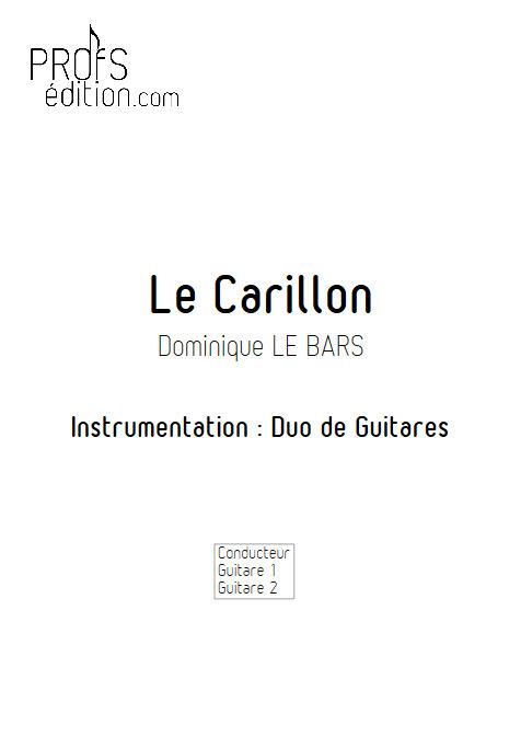 Le Carillon - Duos Guitare - LE BARS D. - page de garde