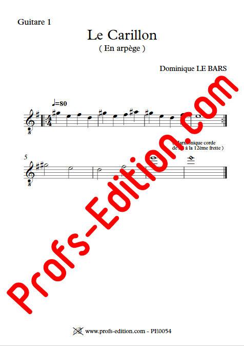 Le Carillon - Duos Guitare - LE BARS D. - Partition