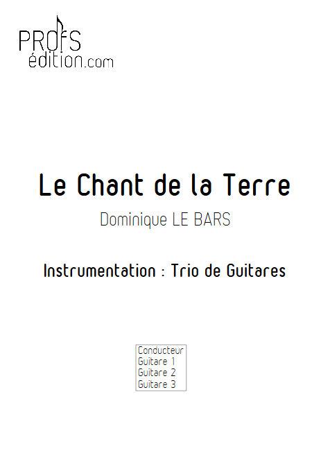 Chant de la Terre - Trios Guitare - LE BARS D. - page de garde