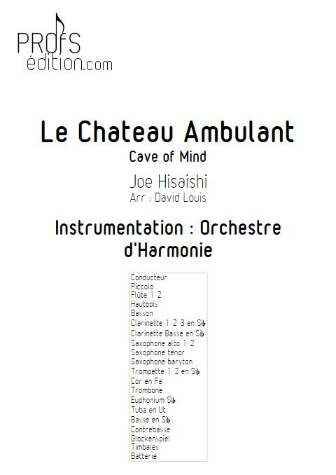 Le Château Ambulant (Cave Of Mind) - Orchestre d'Harmonie - HISAISHI J. - page de garde