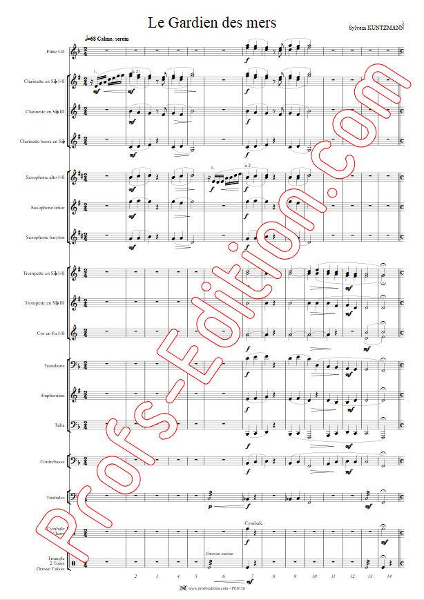 Le Gardien des Mers - Orchestre Harmonie - KUNTZMANN S. - Partition