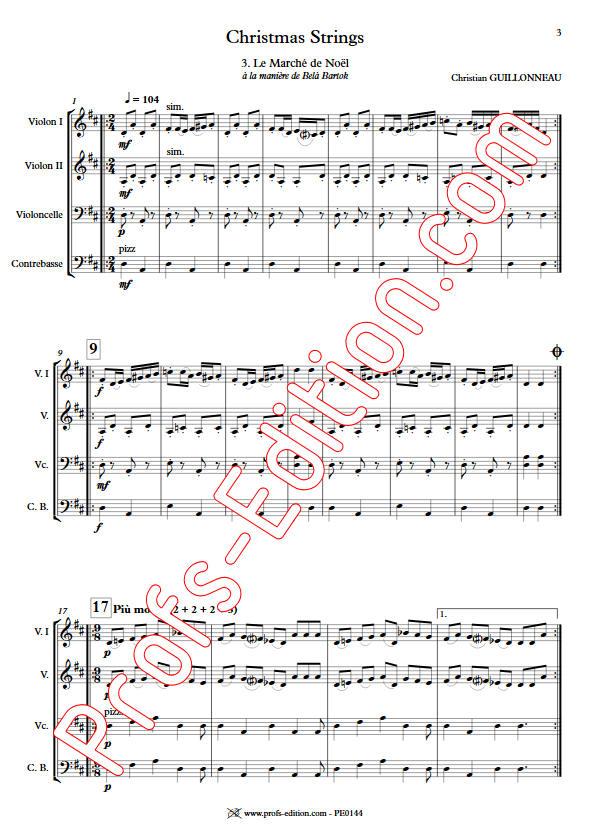 Le Marché de Noël - Orchestre Cordes - GUILLONNEAU C. - app.scorescoreTitle