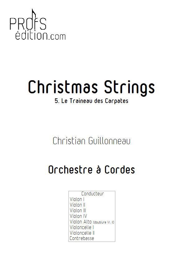 Le Traineau des Carpates - Orchestre Cordes - GUILLONNEAU C. - page de garde