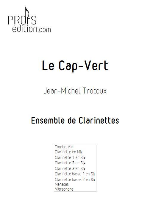 Le Cap-Vert - Ensemble de Clarinettes - TROTOUX J-M. - page de garde