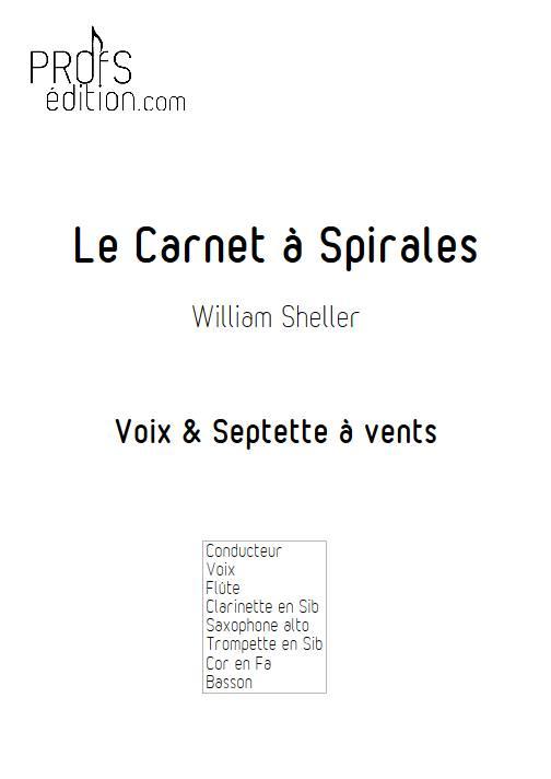 Le Carnet à Spirales - Chant et Septet à vents - SHELLER W. - page de garde
