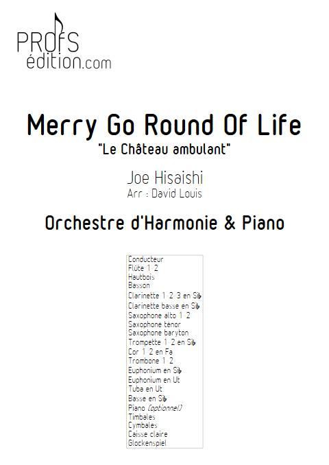 Merry go round of life (Le chateau ambulant) - Orchestre d'Harmonie - HISAISHI J. - page de garde