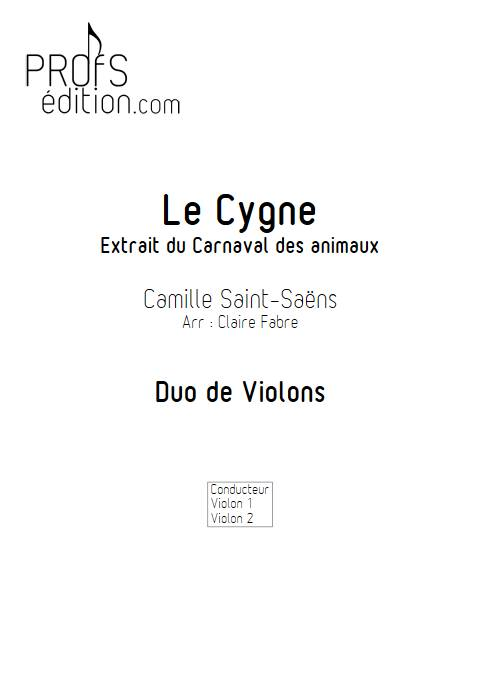 Le Cygne - Duo de Violons - SAINT-SAENS C. - page de garde