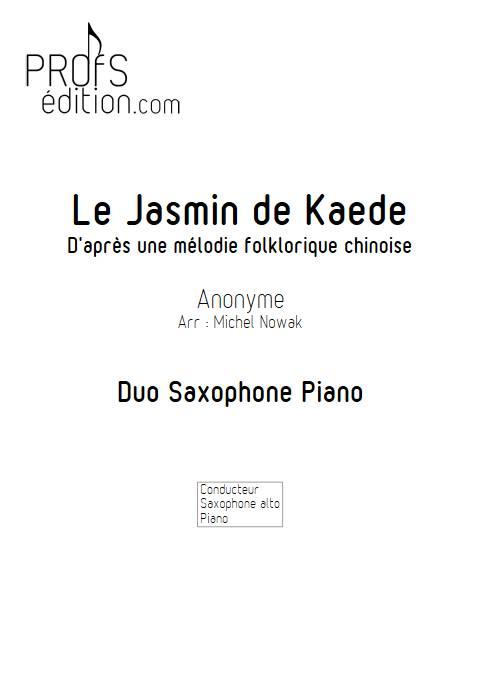 Le Jasmin de Kaede - Saxophone Piano - ANONYME - page de garde