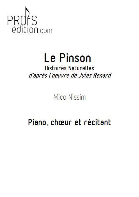 Le Pinson - Chœur et Piano - NISSIM M. - page de garde