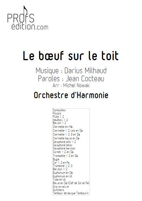 Le bœuf sur le toit - Orchestre d'Harmonie - MILHAUD D. - page de garde