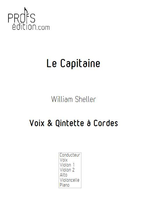 Le capitaine - Chant et Quintette à Cordes - SHELLER W. - page de garde