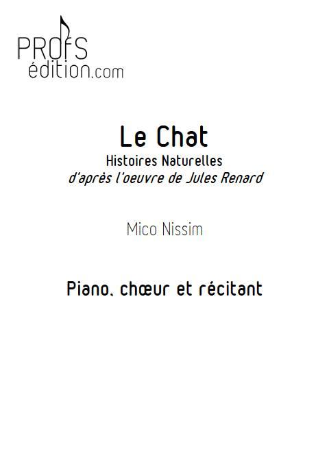 Le Chat - Chœur et Piano - NISSIM M. - page de garde