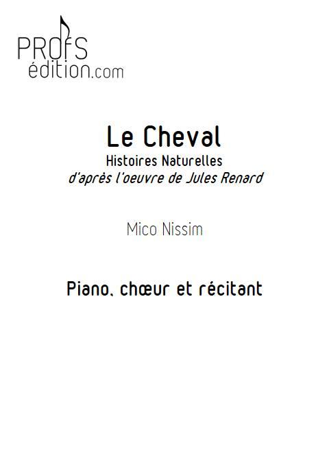Le Cheval - Chœur et Piano - NISSIM M. - page de garde