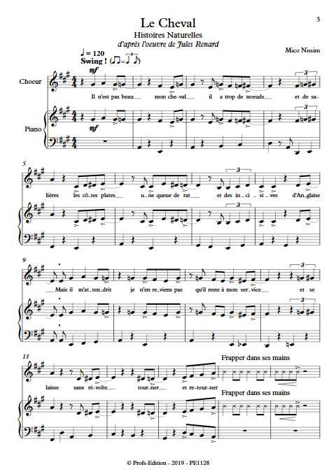 Le Cheval - Chœur et Piano - NISSIM M. - Partition