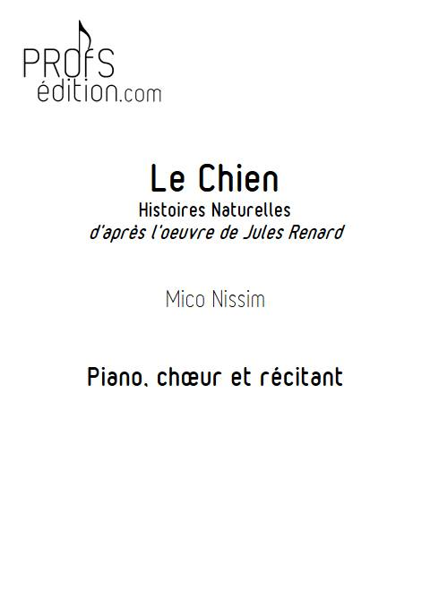 Le Chien - Chœur et Piano - NISSIM M. - page de garde