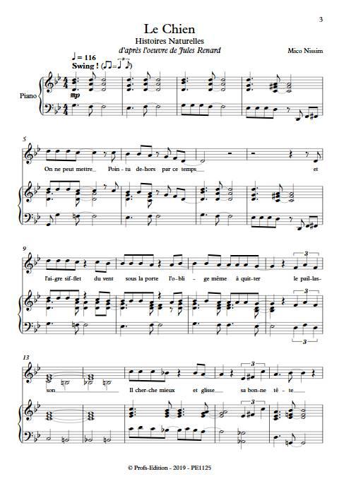Le Chien - Chœur et Piano - NISSIM M. - app.scorescoreTitle