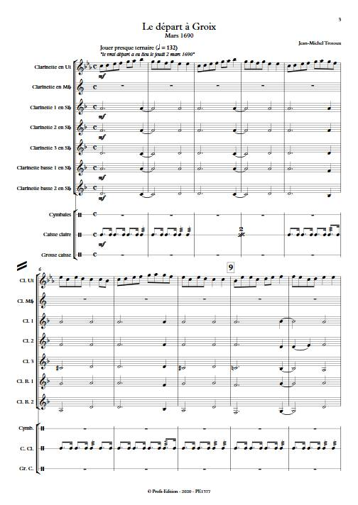 Le départ à Groix mars 1690 - Ensemble de Clarinettes - TROTOUX J. M. - app.scorescoreTitle
