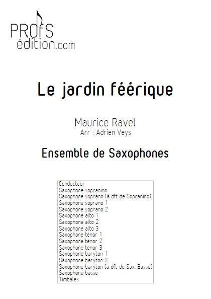 Le jardin féérique - Ensemble de Saxophones - RAVEL M. - page de garde
