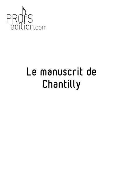 Le manuscrit de Chantilly - Poster - CHARLIER C. - page de garde