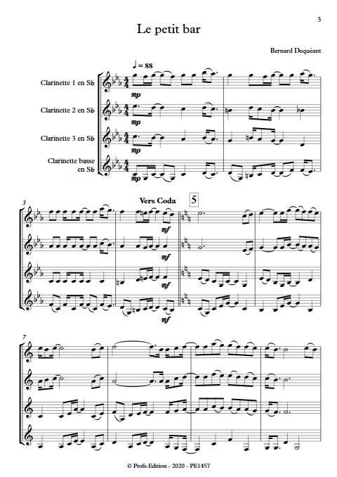 Le petit bar - Quatuor de Clarinettes - DEQUEANT B. - app.scorescoreTitle