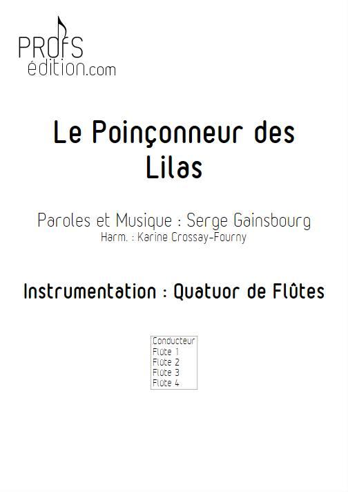 Le poinçonneur des Lilas - Quatuor de Flûtes - GAINSBOURG S. - page de garde