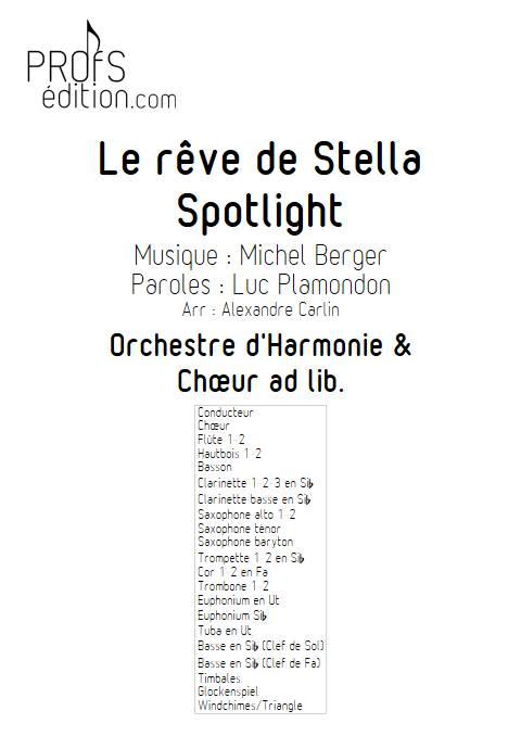 Le rêve de Stella - Chœur & Orchestre d'Harmonie - BERGER M. - page de garde