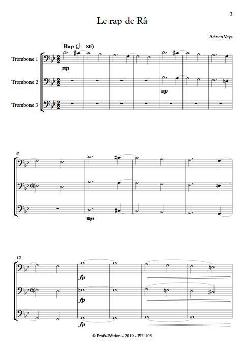 Le rap de Râ - Trio de Trombones - VEYS A. - Partition