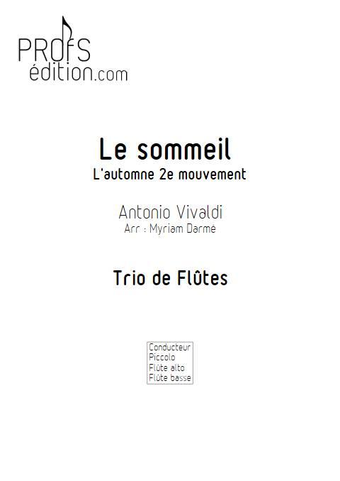 Le sommeil - Trio de FLûtes - VIVALDI A. - page de garde