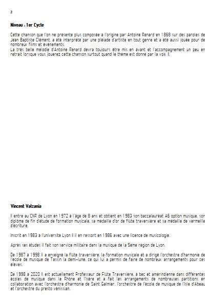 Le temps des cerises - Ensemble Variable - RENARD A. - Fiche Pédagogique
