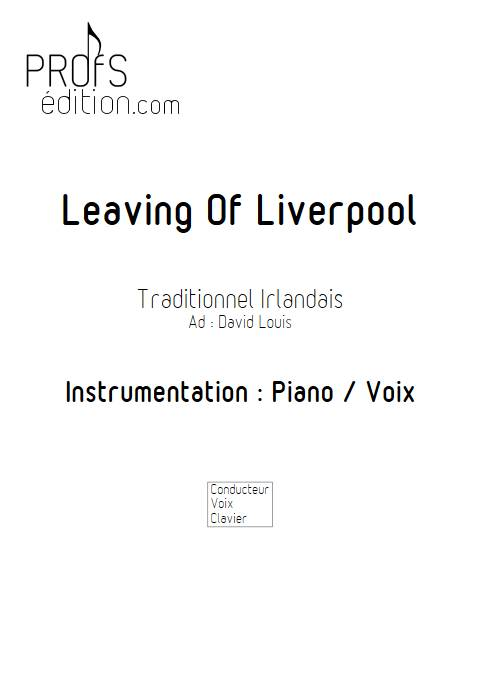 Leaving of Liverpool - Piano Voix - TRADITIONNEL ECOSSAIS - page de garde