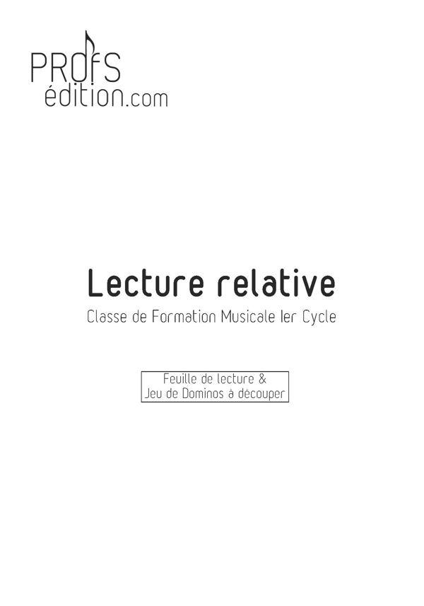 Lecture Relative & Jeu de Domino - Formation Musicale - LOUIS D. - page de garde
