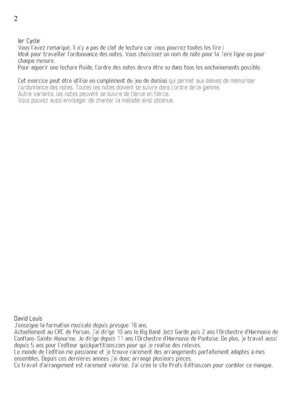 Lecture Relative & Jeu de Domino - Formation Musicale - LOUIS D. - Fiche Pédagogique