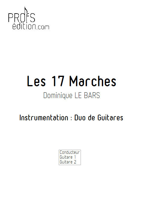 Les 17 Marches - Duos Guitare - LE BARS D. - page de garde